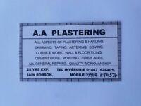 AA Plastering - Serving Aberdeen and surrounding areas (50 miles radius)