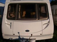 sterling ecles jewl 4 berth 2006 with fixed bed full awning