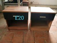 2 bedside tables free delivery in Leicester