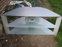HEAVY TV STAND WITH STORAGE.FREE DELIVERY LOCAL TO NEW MILTON