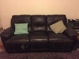 Harvey's leather lazyboy sofa