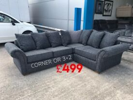 FABRIC CORNER SOFA - L@@K THIS, SUPER CHEAP, HIGH QUALITY!