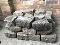 Cobblestones, approx 35 in total.