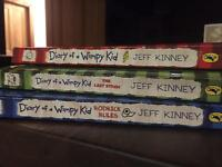 Kids books - 3 x Diary of a Wimpy Kid paperback books