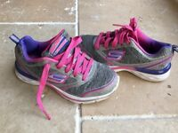 Girls skecher trainers size 12.5 worn twice EXCELLENT Condition