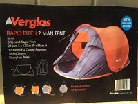 Rapid pitch 2 person Tent for Sale £10