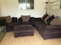 3 piece suite plus foot stool for sale