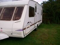 swift celeste 4 berth with fixed bed 2005 full awning