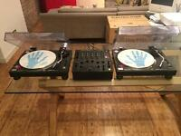 Technics 1210 Turntables x2 & Pioneer DJM 500 mixer