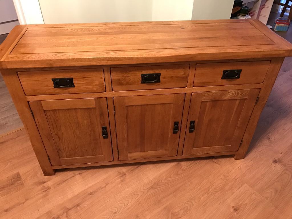 Oak Furniture Land Original Rustic Collection Solid Oak