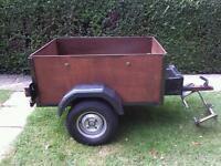 4x3 car box trailer