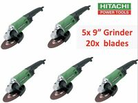 """5x Hitachi G23SS 240volt 9"""" 230mm Grinder Special + 20x Free Blade JOB LOTS BULD WHOLE SALE PRICES"""