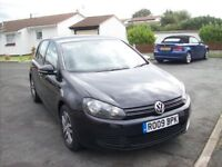 vw golf 2l tdi 2009 black 5 door 1 owner company 2 keys drives well cheep car no offers