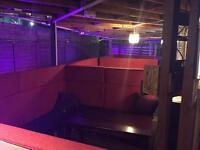 U-shaped booths for sale