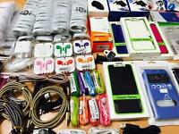 New Bulk Wholesale Job Lot of Mobile Accessories, Cables and Cases. Perfect for Business or New Shop