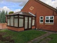 UPVC dark brown conservatory. Buyer collects