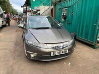 BREAKING Honda Civic ES I-VTEC 5dr 1.8 Grey door glass window front rear offside nearside