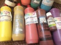 Slightly used 10 poster paints+1 acrylic paint