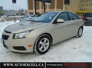 2014 Chevrolet Cruze LT ALLOYS LEATHER 1.4L 4CYL