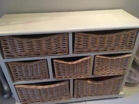 Wicker basket chest