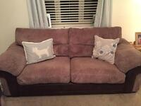 Two 3 seater sofa's