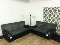 New black and grey 3+2 seater sofas *free delivery*