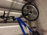 Boys blue bmx bike suit age 8-11 years with stunt pegs