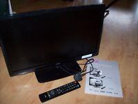 """LOGIK 24"""" FULL HD LED TV TELEVISION BLACK"""