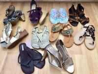 Ladies sandals all size 6 some unworn £5 per pair