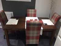 Solid oak stained dining table