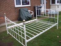 double bed with mattress no stains 12 month old in very good condition