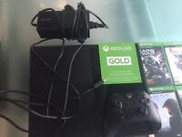 Xbox one 500gb with 4 games £170