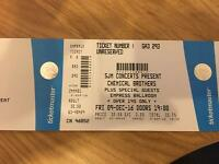 3 Chemical brothers tickets for blackpool tonight