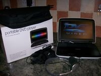Portable DVD/CD player with 10 ins LCD screen