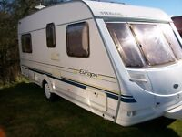 sterling europa 4 berth with fixed bed 2004 full awning ex condition