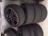 """Bmw ac schnitzer diamond cut 18"""" Alloy Wheels Can Sell Single Can Post Part Ex Welcome"""