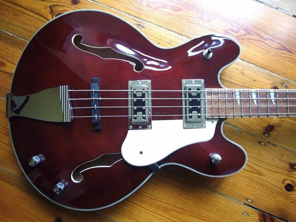Semi Acoustic bass guitar for sale  Harley Benton HB 60  Cool! | in  Blackheath, London | Gumtree
