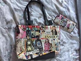Bag and purse set