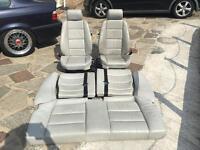 BMW E36 Coupe cream leather seats