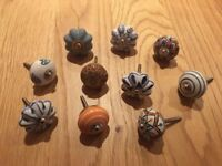 🌟10 piece set of assorted ceramic drawer knobs!