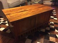 Vintage 1970's Wooden Chest/Trunk