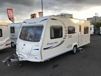 2009 BAILEY PAGEANT BRETAGNE SERIES 5 - FIXED TRIPLE BUNK BEDS - 6 BERTH LIGHTWEIGHT TOURING CARAVAN
