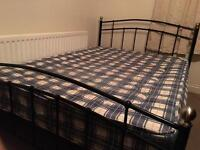 Double bed with mattress-Free delivery