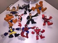 10 x SUPER HERO FIGURE BUNDLE / LOT FISHER PRICE PLAYSKOOL HERO ( marvel / DC )