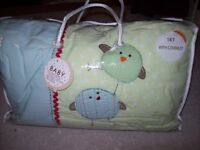 NEXT ZIGGY AND FRIENDS 4 PIECE NURSERY COT/ COTBED BEDDING SET IN ORIGINAL BAG