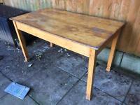 Original retro vintage teachers desk in solid wood