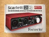 Focusrite Scarlett 2i2 USB Recording Interface