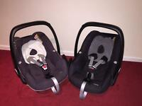 2X Maxi-Cosi Pebble car seats in excellent condition.