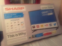 Brand New Sealed Sharp Smart TV 49Inch WIFI FULL HD FreeView