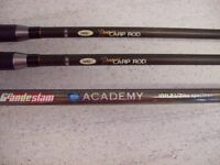 3 carp rods 2 x 12' 3llb tc 1 x 10' 2.5lb tc